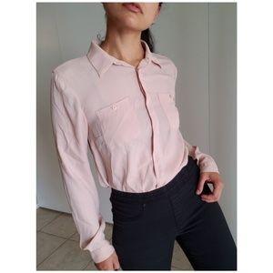 LOFT by Ann Taylor Light Cream Button up Shirt